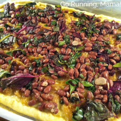 Go Running, Mama!- Beans and Greens Pizza