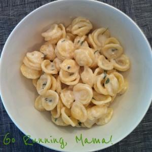 Go Running, Mama!- Creamy Garlic Kefir Pasta