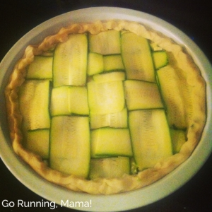 Go Running, Mama!- Zucchini Pie with Zucchini Lattice Top