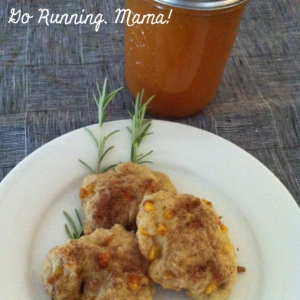 "Go Running, Mama!- Rosemary Peach ""Breakfast"" Cookies"