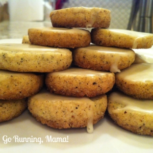 Go Running, Mama!- Calm Down Cookies: Chamomile Shortbread Buttons with Orange Blossom Glaze