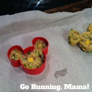 Go Running, Mama!- Zucchini Quinoa Lunchbox Patties; easy, healthy, make ahead meal