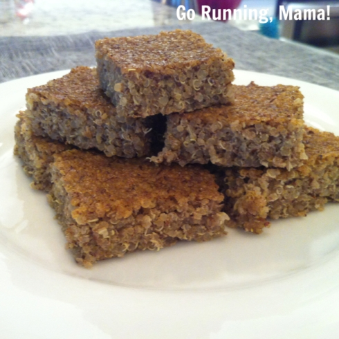 Go Running, Mama!- Cinnamon Quinoa Lunchbox Bars; clean, healthy snack or breakfast on the go