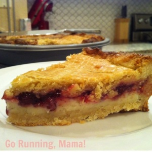 Go Running, Mama!: Gateau Larsson- Almond pastry with custard and lingonberries