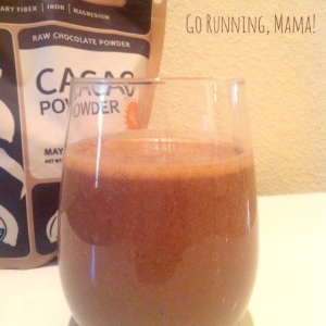 Go Running, Mama!: Almond Cacao Smoothie- dairy and soy free