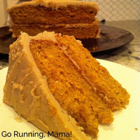 #firstonthefirst: Pumpkin Spice Cake with Penuche Frosting
