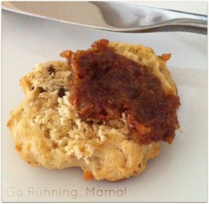 Maple Walnut Kefir Biscuits and Bacon Beer Jam- Go Running, Mama!