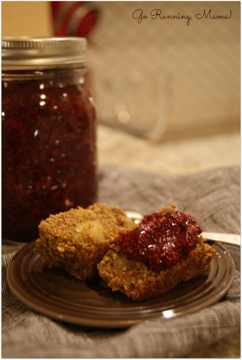 Mango Macadamia Recovery Muffins with Raspberry Chia Jam- Go Running, Mama!