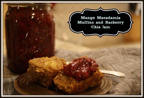 Mango Macadamia Recovery Muffins with Raspberry Chia Jam- Go Running, Mama!