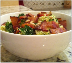 Healthy Orzo Pasta with Broccoli Pesto- Go Running, Mama!