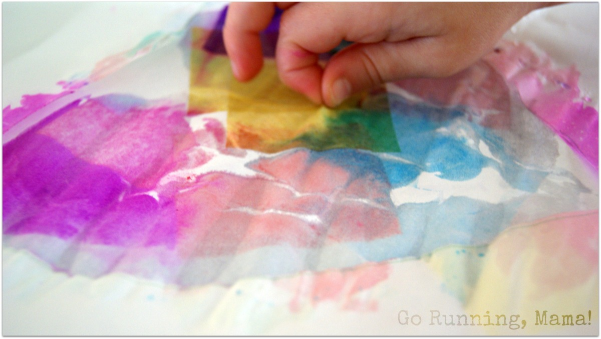 Heart Watercolor Mosaic Paintings