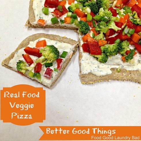 #BetterGoodThings- Real Food Veggie Pizza