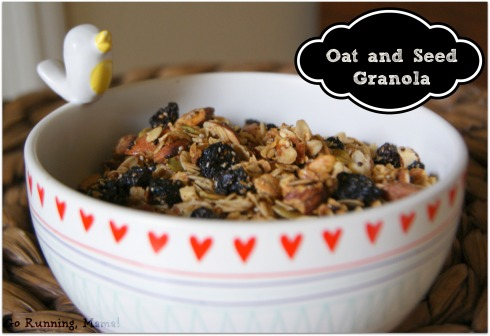 Homemade Oat and Seed Granola with oats, salba, chia, pepitas, and flax