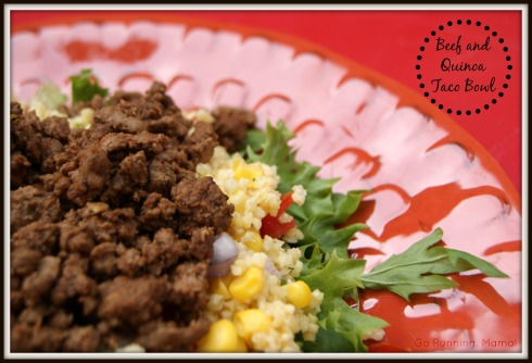 Beef and Quinoa Taco Bowl- Perfect for endurance athletes!
