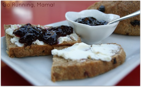 Cherry Chocolate Bock Bread with Cherry Cabernet Jam