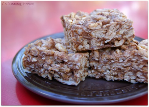 Far better than rice crispy treats... Crispy Farro Bars