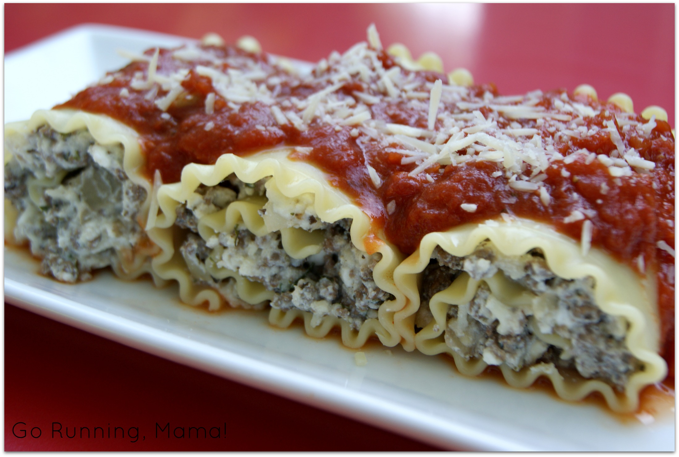 Bettergoodthings Marathon Lasagna Rolls A Healthier And Easier Lasagna With Bison And Cottage