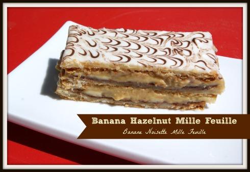Banana Hazelnut Mille Feuille